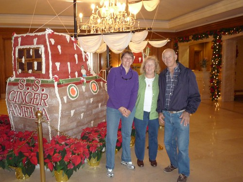 Robin, Eileen and Larry at the ship