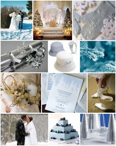 wedding colors in winter wedding-blue