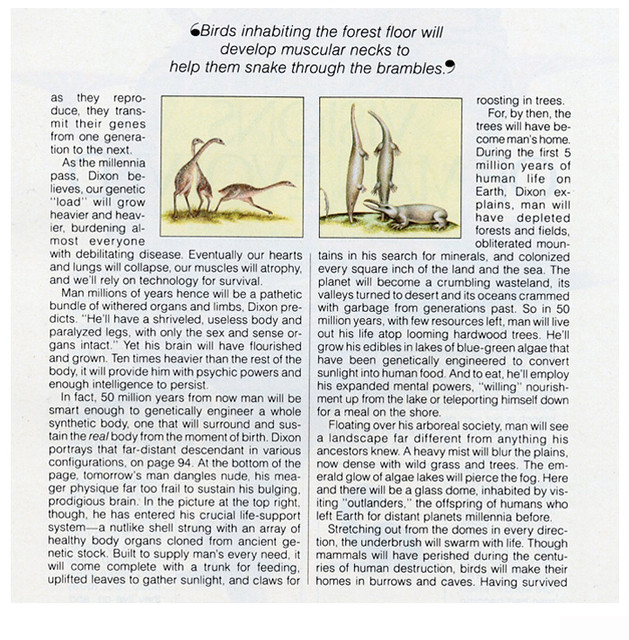 Visions Of Man Evolved - Article Page 2 - Omni Magazine November 1982