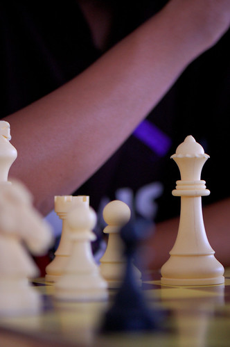 the White Queen -chess game-