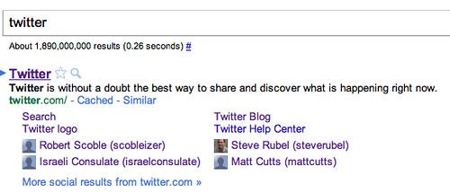 Social Sitelinks in Google