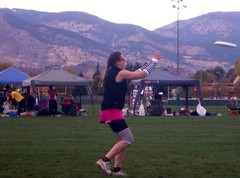 Clare About to Catch Disc