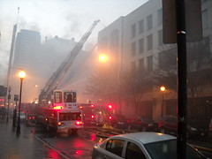 fire on the baltimore st. the block. (billedgar8322) Tags: city club fun fire harbor bill store police maryland baltimore inner strip edgar