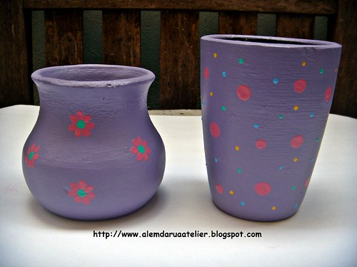 vasos pintados à mão
