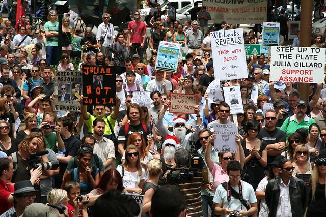 Wikileaks rally