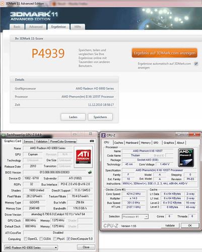 AMD Radeon HD 6970 3D Mark11