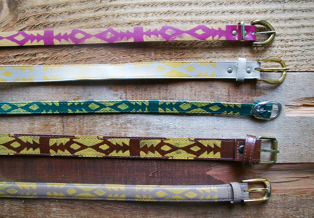 hand printed belts