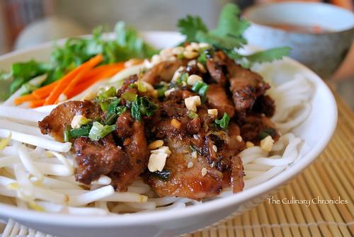 Bún Thịt Nướng (Vietnamese Grilled Pork over Vermicelli Noodles)