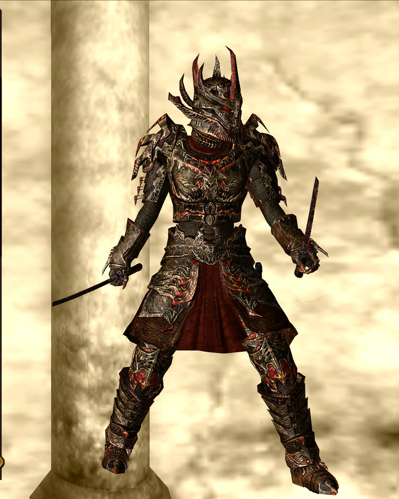 daedric armor - gold 01