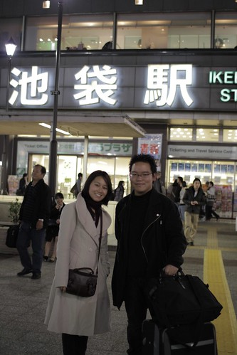 With Ying Yi outside Ikebukuro Station