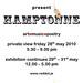 'Red Dot present Hamptonne' exhibition flyer