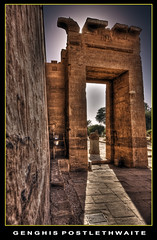 Temple gate (Descended from Ding the Devil) Tags: photoshop temple gate egypt handheld luxor hdr lightroom cs3 photomatix sigma1020 3exposures canon40d