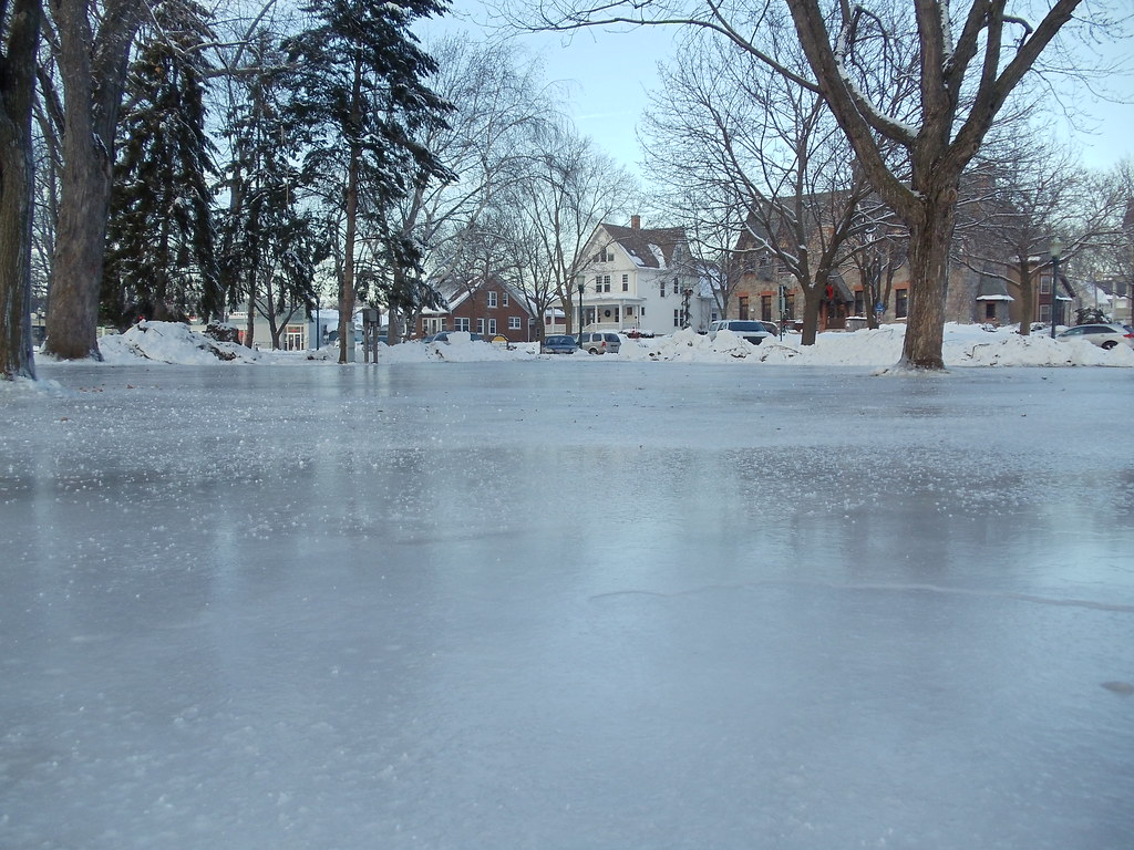 Lake Mills Library: Outdoor Ice Rink in Commons Park
