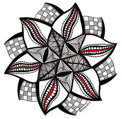 mandala005 (Amaryllis Creations) Tags: mandala penink zentangle