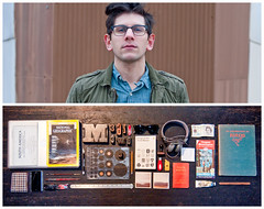 Mark Diptych (J Trav) Tags: atlanta portrait georgia persona diptych whatsinyourbag graphicdesigner jtrav theitemswecarry markweaver jasontravisphoto showusthecontentsofyourbag