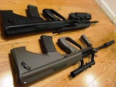 Bullpup porn (Doubletap**) Tags: ca classic army rail a3 a1 aug comparison ras 6mm jg airsoft aeg