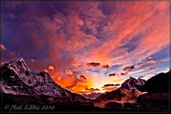 The Sunset (NeilsPhotography) Tags: travel nepal sunset red cloud snow color colour slr wow landscape interestingness amazing interesting asia great explore valley mountian 2010 amadablam outstanding lr3 npl dingboche mountiains coloud 550d cs5 canon550d neilliddle landseavision liddlephotography