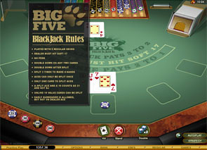 Big Five Blackjack Gold Rules