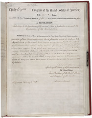 Joint Resolution Proposing the Thirteenth Amendment to the United States Constitution, 01/31/1865 - 01/31/1865