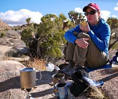 Lunch along the trail, Joshua Tree (The Cabin On The Road) Tags: eve travel desert joshuatree panasonicdmcgf1