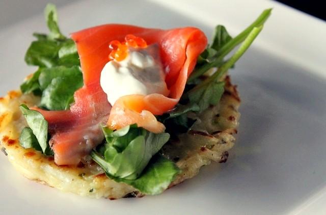 Potato Rosti with Smoked Salmon