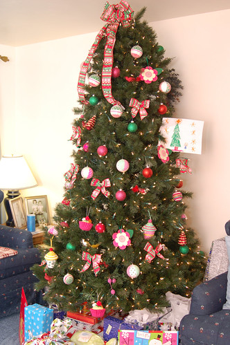 Christmas Eve:  Grandma Pinky's new tree.