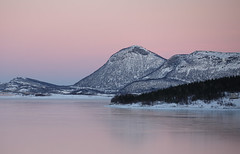 Polarnight (Thorbjrn Riise Haagensen) Tags: pink sky colors polarnight frozensea gildeskl breivik breivika