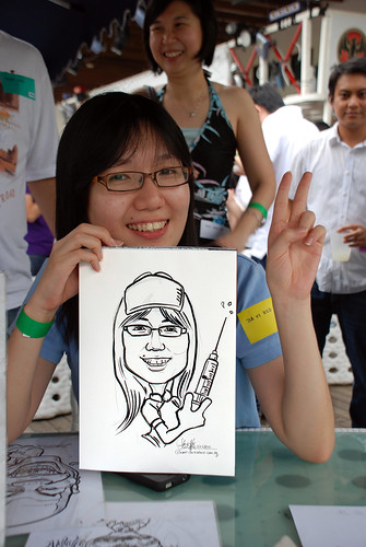 Caricature live sketching for VISA Beach Party 2010 -8