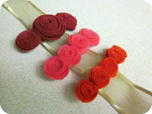 Felt Flower Barettes