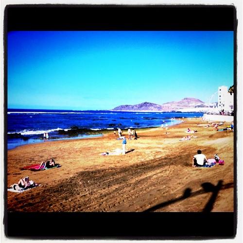 Gran Canaria - Christmas in Las Canteras Beach in Las Palmas de Gran Canaria