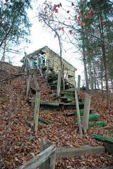 Stairs (twhrider) Tags: county abandoned water zoom indiana slide monroe bloomington floom zoomfloom beginnerdigitalphotographychallengewinner