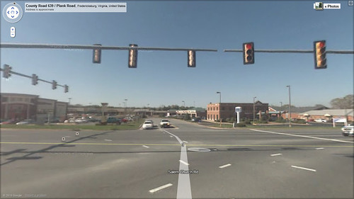 Plank Road and Salem Churc Road on Google Streat View
