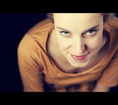 Marta (Wojtek Grygiel) Tags: light portrait people girl umbrella studio eyes cross flash young 85mm poland processing cannon 5d f18 softbox homade mark2 strobists reporterski