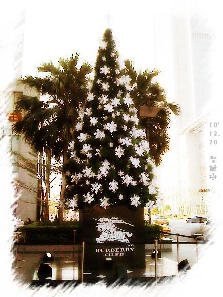 信義新光的BURBERY聖誕樹