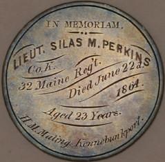 Silas Perkins Engraved half dollar reverse