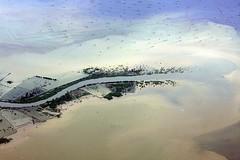 Java coast (Mangiwau) Tags: ocean port indonesia coast harbor java harbour ships laut going s erosion soil jakarta pollution shipping jawa freight kelapa pelabuhan plumes freighter freighters tanjung plume sungai discharge labuan sunda kotor kapal priok