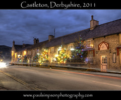 Castleton Lights Jan 2011 (Paul Simpson Photography) Tags: christmas xmas uk england twilight village derbyshire peakdistrict streetlife christmastree christmaslights christmastrees hdr urbanlife castleton traffictrails villagelife villagescene englishvillage villagestreet photomatix stonebuildings peaknationalpark tonmapped chocolateboximage january2011 villagephotos englishvillagelife derbyshirelife twilightimages bestcapturesaoi sonycameraphotos castletonchristmaslights paulsimpsonphotography derbyshirephotos christmasilluminationn photosofderbyshire besthdrphotos derbyshireimages hdrderbyshire christmasinderbyshire castletonvillagelife sonya700images bestphotosofderbyshire besthdrimages