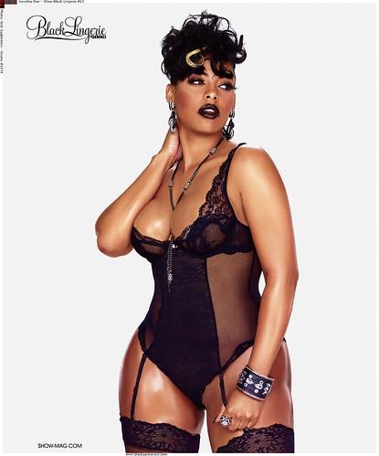 Keyshia Dior show magazine black lingerie