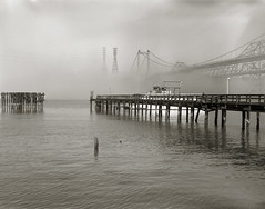 Zampa Bridge N 2 (efo) Tags: california bridge fog 4x5 largeformat graflex crockett speedgraphic carquinezstraits