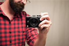 New camera (chrisglass) Tags: camera me lumix mirror