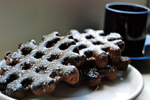 Chocolate waffle cookies from Every Last Cookie