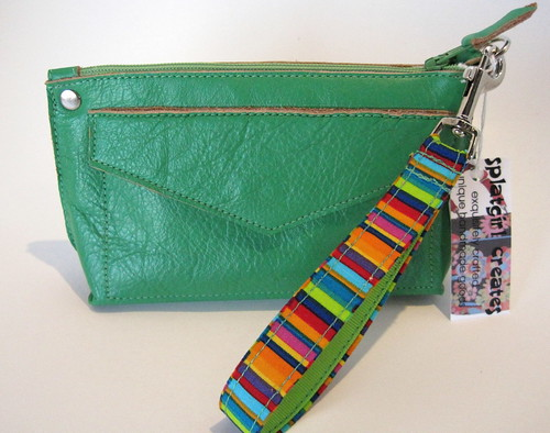 Perfect Little Clutch in bright green