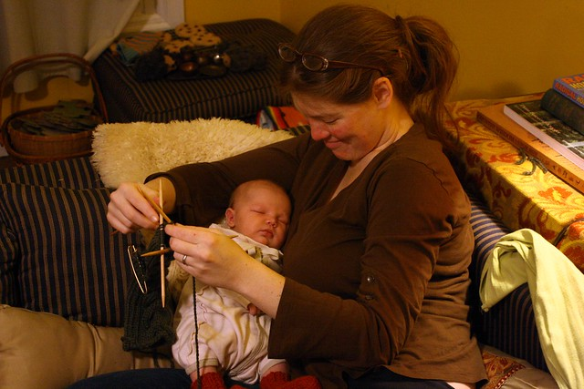 knit while the baby naps