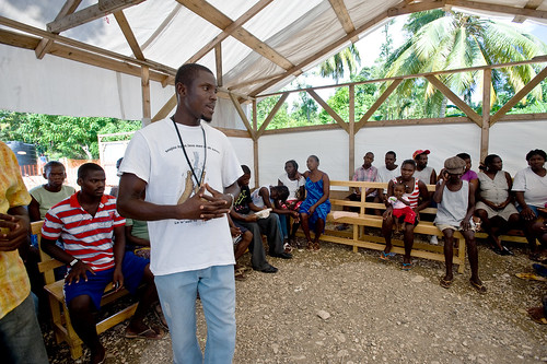 Educating camp residents about cholera