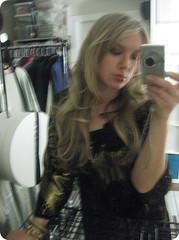 (amypigliacampo) Tags: girl closet gold dress blonde newyearseve2011
