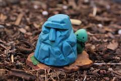 talking rock! (meeellla) Tags: art rock talking tenda earthbound fanfest polymer