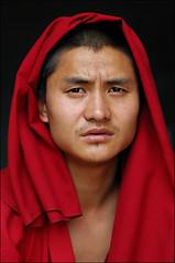 The Visionary (Apratim Saha) Tags: portrait people india man indian monk monastery sikkim westbengal gangtok rumtek apratim apratimsaha rumtekmonestery