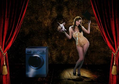 フリー写真素材, 人物, 女性, グラフィックス, フォトアート, 兎・ウサギ,