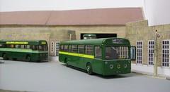 Dorking bus garage diorama (kingsway john) Tags: ds dorking bus garage kingsway models station london transport mb rf card kits 176 scale diorama londontransportmodel model oo gauge miniature