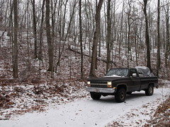 180 (stevenbr549) Tags: road trees winter snow chevrolet ice weather truck georgia woods 4x4 country gray 4wd dirt chevy 1985 k10 2011
